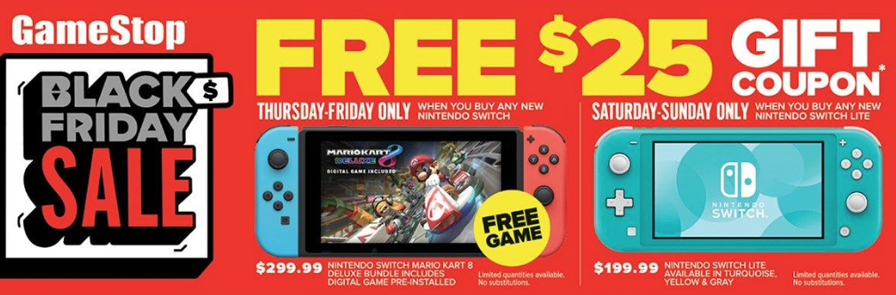 GameStop Nintendo Switch Black Friday 2019